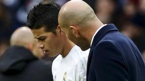 Zidane se malea con James Rodríguez 85f353a8916b6