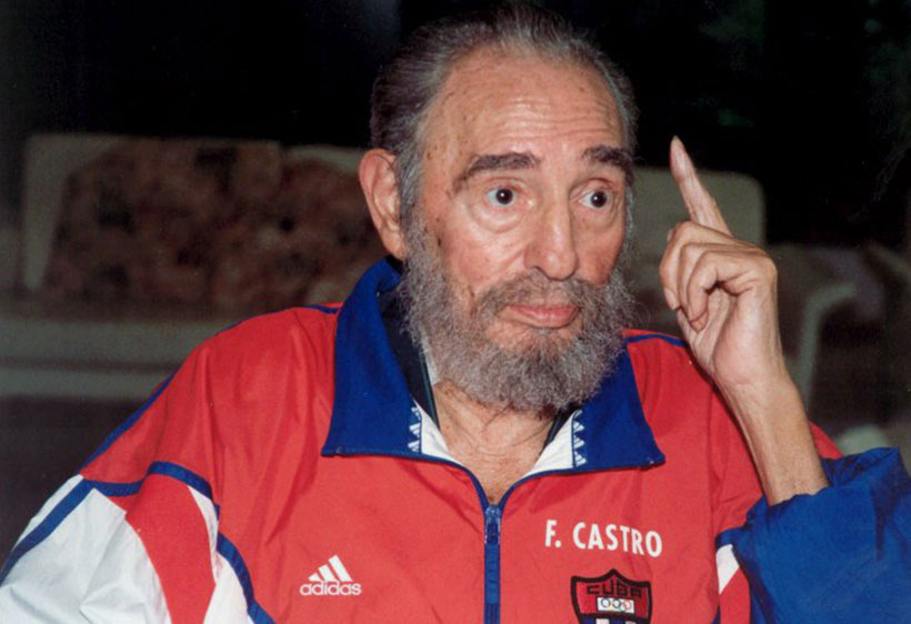Hola Polvo Intervenir  Por qué Fidel Castro usa ropa marca Adidas? - RadioHouse