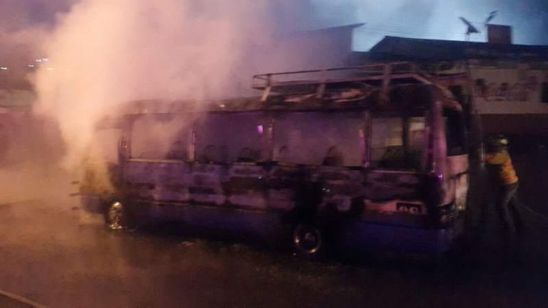 transporte quemado