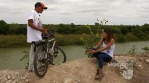 Migrante catracho en bicicleta