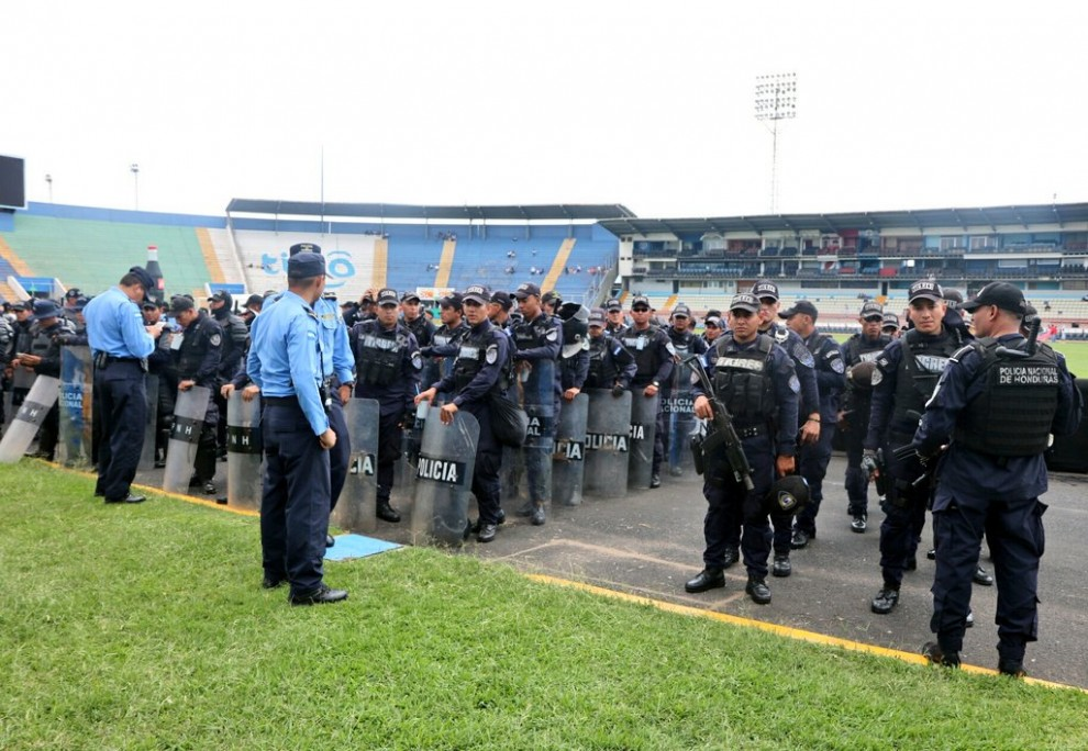 Foto compartida por @PoliciaHonduras (Twitter).