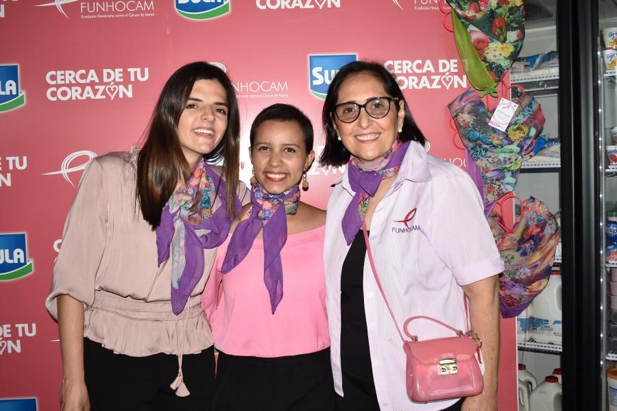 Marianne Kafie%2c Angelica Rivera y Rosemonde de García
