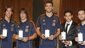 Ramos, Puyol y Piqué