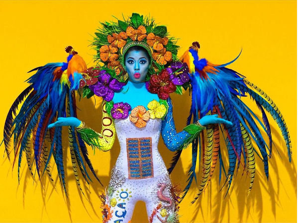 Fuente: Traje tipico de Miss Universo Curazao